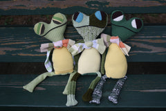 children's handmade frog stuffed toy