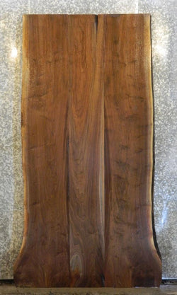 3- DIY Live Edge Black Walnut Dining Table Top Bookmatched Wood Slabs 1041-1043