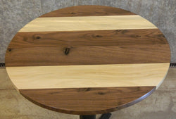 Black Walnut & Spalted Maple Round Cut Glue Up Pub/Coffee Table Top 10436