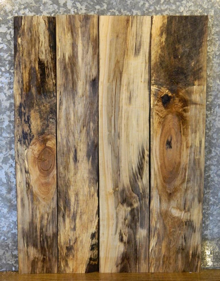 4- DIY Smokey Spalted Maple Table Top Wood Lumber Boards LSHA01 11081-11084