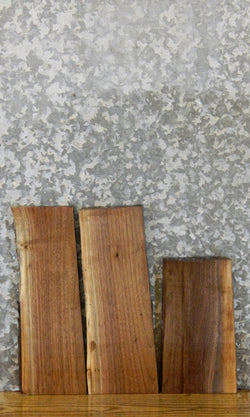 3- Partial Live Edge Black Walnut Salvaged Craft Pack Wood Slabs 12089-12091