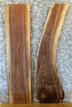 2- DIY Natural Edge Rustic Black Walnut Charcuterie Boards/Slabs 12973-12974