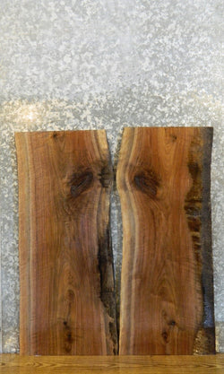2- Bookmatched Black Walnut Live Edge Side Table Top Slabs 13011-13012