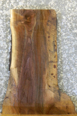 Reclaimed Black Walnut Live Edge End Table Top Slab 13294