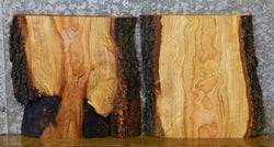 2- DIY Live Edge Cherry Charcuterie Boards/Rustic End Table Top Slabs 13328-13329