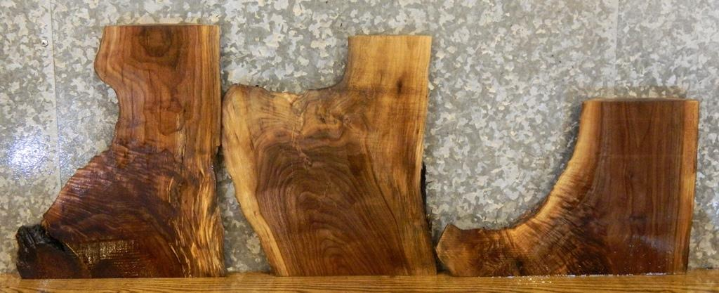 3- DIY Live Edge Black Walnut Charcuterie Boards/Craft Pack Slabs 13410-13412