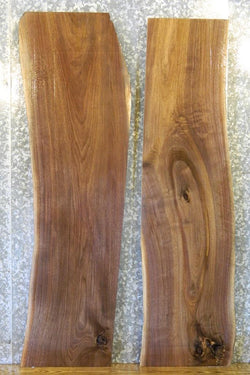 2- Partial Natural Edge Black Walnut Kitchen/River Table Top Slabs 1406-1407
