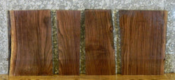4- Rustic Partial Live Edge Black Walnut Split Board Slab Halves 14403,14409