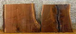 2- Rustic Partial Live Edge Black Walnut End/Entry Table Top Slabs 14436,14438