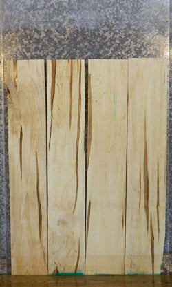 4- Kiln Dried Salvaged Ambrosia Maple Lumber Boards LSWS15 15100-15103
