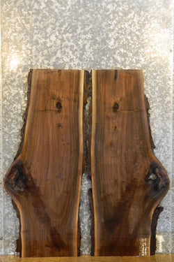 2- Salvaged Bookmatched Live Edge Black Walnut Table Tops 1668-1669