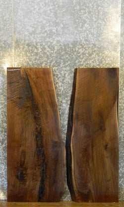 2- Natural Edge Bookmatched Black Walnut Office Desk Top Slabs K 1729-1730