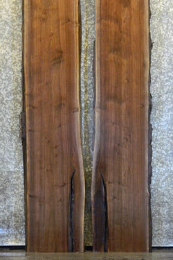 2- Live Edge Black Walnut Bookmatched Table Top Slabs LL1-2 20059-20060