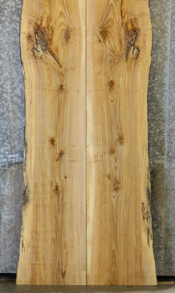 2- Live Edge Bookmatched Ash Bar/Dining/Kitchen Table Top Slabs 20249-20250