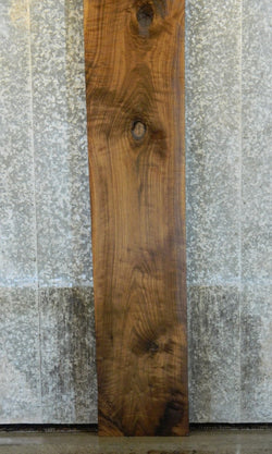 Partial Live Edge Black Walnut Rustic Bar Top Wood Slab 20421