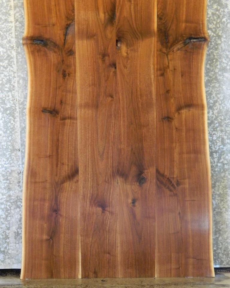 4- DIY Bookmatched Live Edge Black Walnut Dining Table Top Set V14 20642-20645