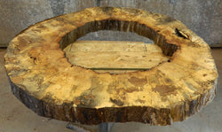 Round Cut Spalted Maple Live Edge Pond/Coffee Table Top Slab 20782