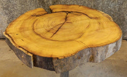Side Table Top Natural Edge Super Thick Round Cut Mulberry Slab 20834