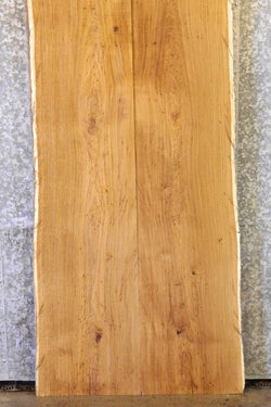 2- Natural Edge Bookmatched Dining Table Top White Oak Slabs 23-24