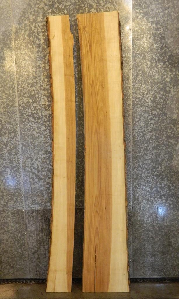 2- Rustic Natural Edge Ash Split Board/River Table Top Slab Halves 300