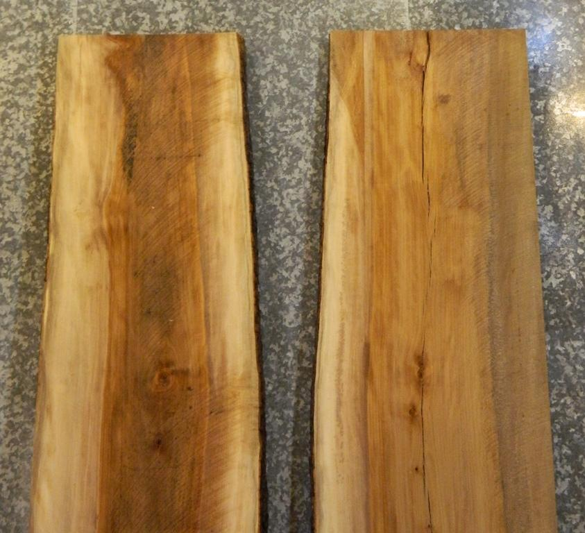 2- Sycamore Live Edge Bookmatched Dining/Kitchen Table Top Slabs 301-302