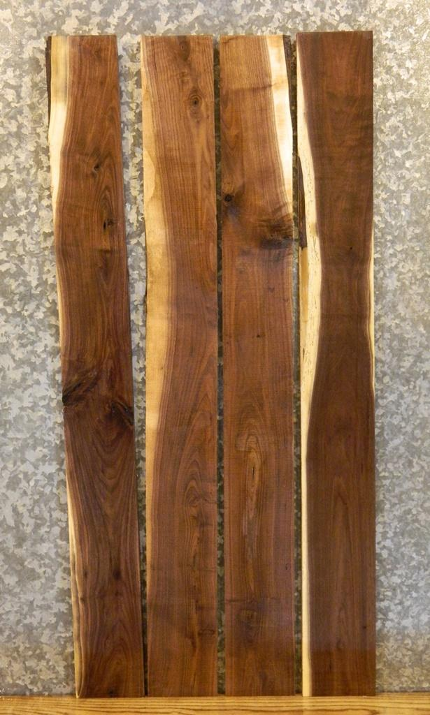 4- Black Walnut Kiln Dried Instrumental Wood/Rustic Lumber Boards 33027-33030