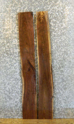 2- Black Walnut Rustic Kiln Dried Shelf Slabs/Lumber Boards 33188-33189