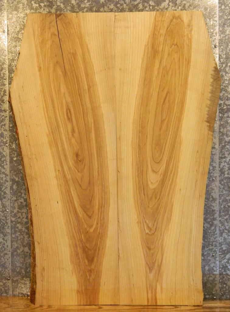 2- Partial Natural Edge Ash Bookmatched Kitchen Table Top Wood Slabs 4016-4017
