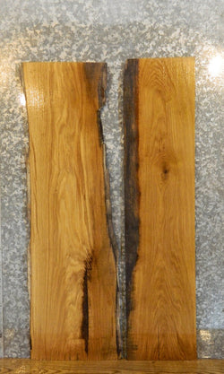 2- Partial Live Edge White Oak Rustic Side/Entry Table Top Slabs 40206-40207