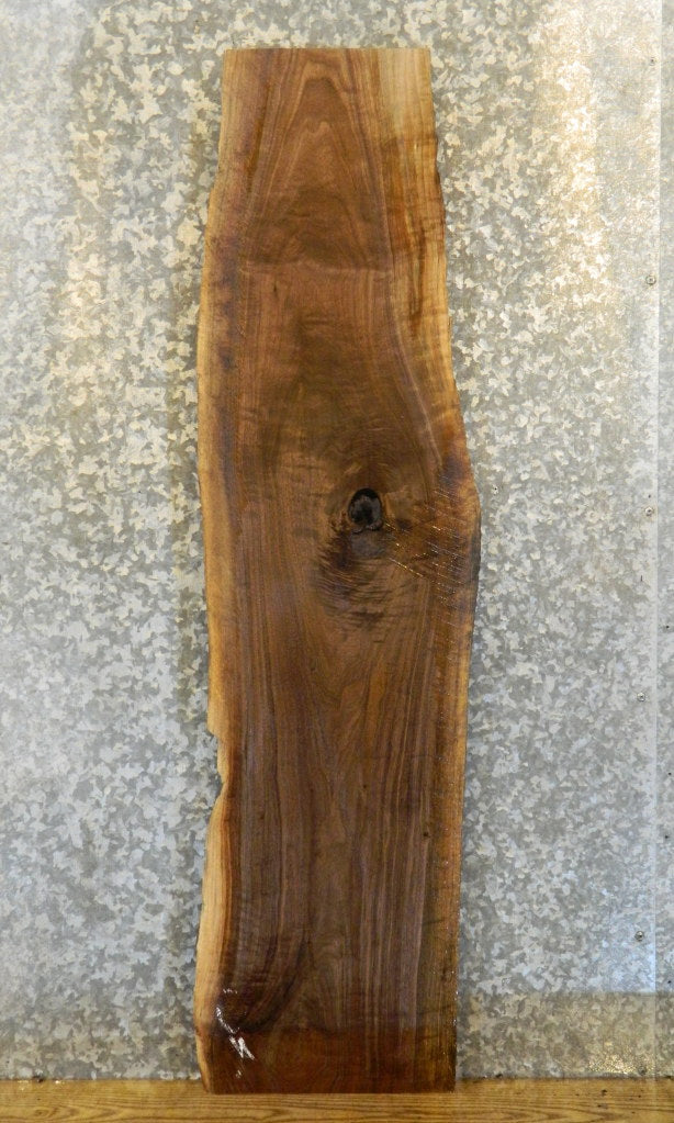Salvaged Natural Edge Black Walnut Accent/Sofa Table Top Slab 40268