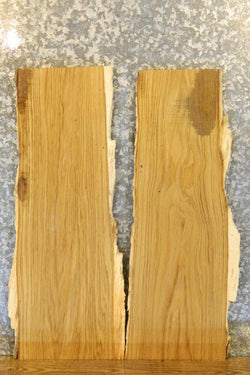 2- Rustic White Oak Live Edge End/Entry Table Top Slabs 40443-40444