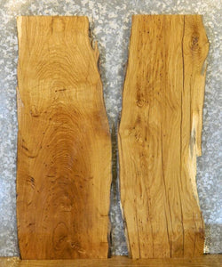 2- Salvaged White Oak Live Edge End/Side Table Top Wood Slabs 40473-40474