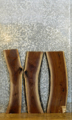 3- Live Edge Bookmatched Black Walnut DIY Charcuterie Boards 40532-40534