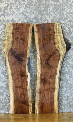 2- Black Walnut Live Edge Bookmatched DIY Charcuterie Boards 40540-40541