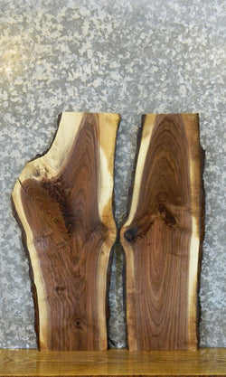 2- Black Walnut Live Edge Bark DIY Charcuterie Boards/Slabs 40564-40565