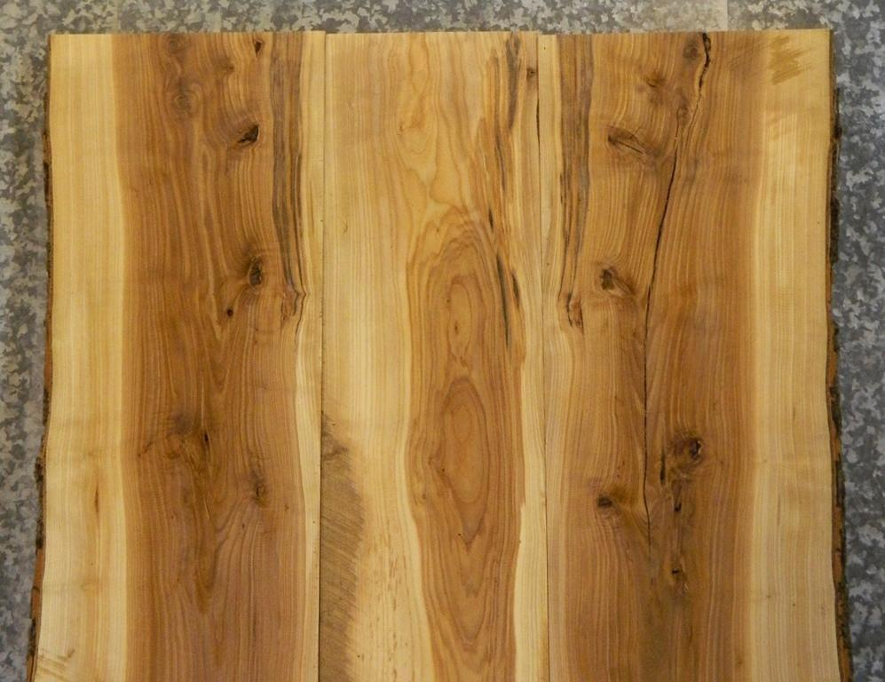 3- DIY Bookmatched Livel Edge Ash Kitchen/Dining Table Top Slabs; 40636-40638