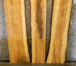 3- DIY Bookmatched Natural Edge Ash Dining Table Top Wood Slabs 40647-40649