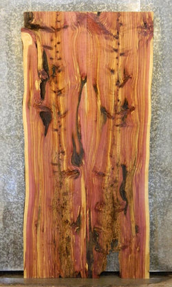 2- Red Cedar Live Edge Dining Table Top Bookmatched Wood Slabs 40673-40674