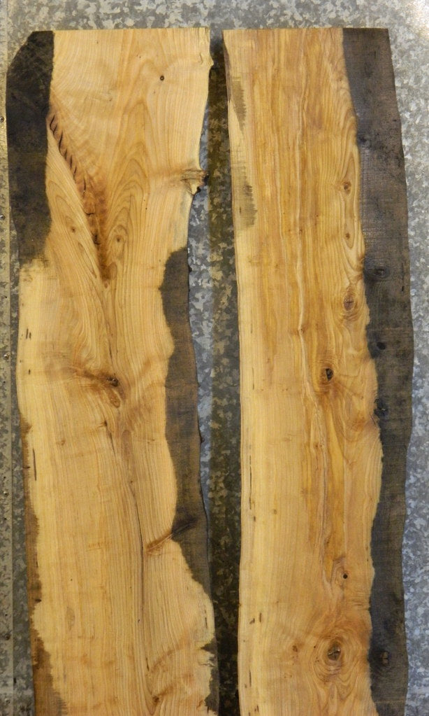 2- Rustic Live Edge Ash Dining/River Table Top Wood Slabs 40717-40718