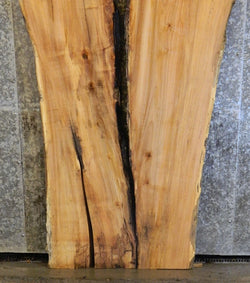 2- Live Edge River Table Top Spalted Maple Split Board Slab Halves 40727