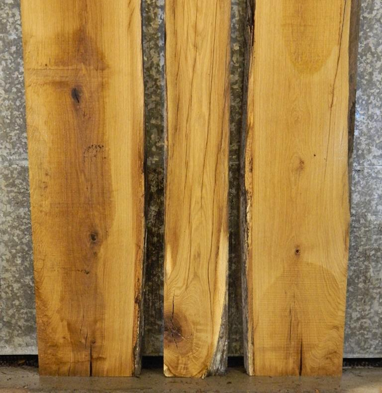 3- DIY Live Edge Bookmatched White Oak Dining/Kitchen Table Top Slabs 4379-4381