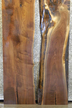 2- Live Edge Black Walnut Bookmatched Kitchen Table Top J5-6 4407-4408