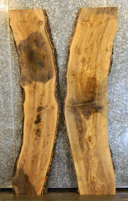 2- Live Edge Bookmatched Ash River/Pond/Kitchen Table Top Slabs 4546-4547
