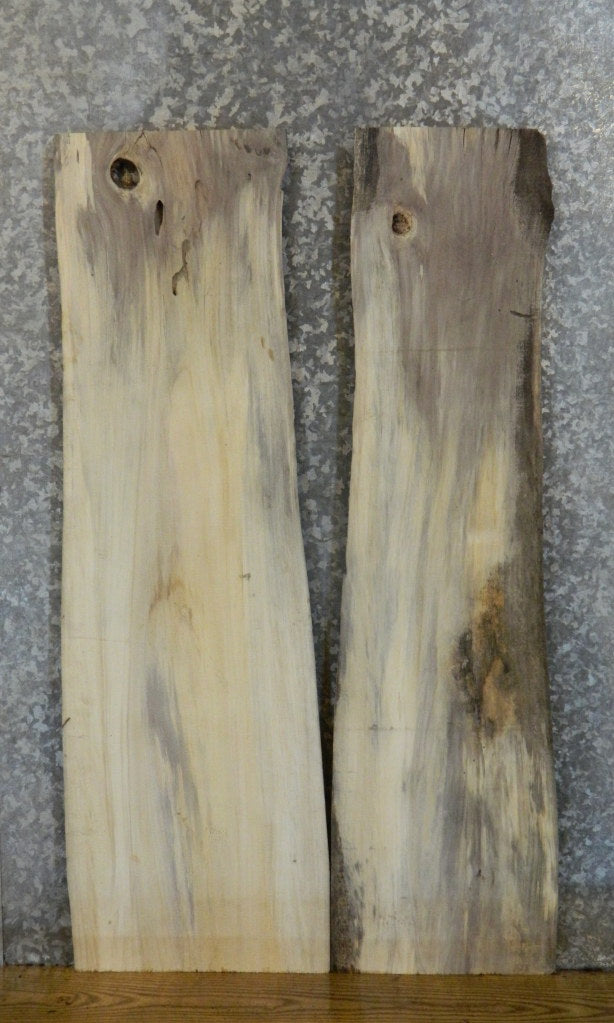 2- Reclaimed Live Edge Cottonwood Sofa/Side Table Top Slabs 4751-4752