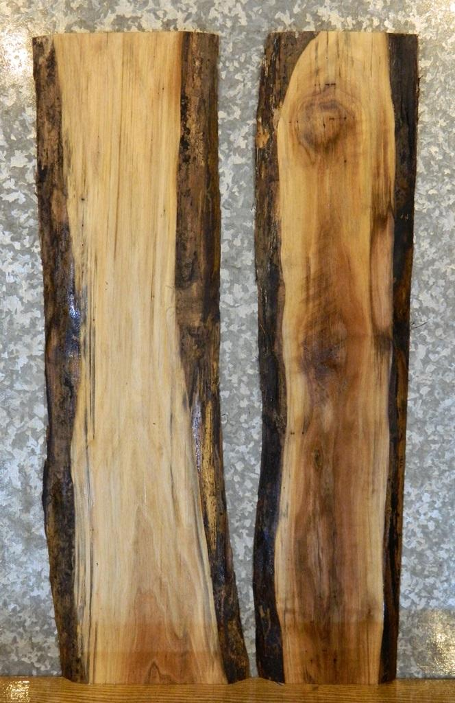 2- Rustic Black Walnut Live Edge End/Side Table Top/Shelf Slabs 4780-4781