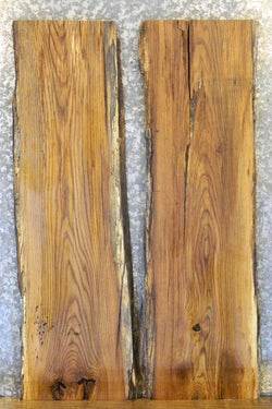 2- Reclaimed Red Oak Live Edge Sofa Table Top Slabs 4854-4855