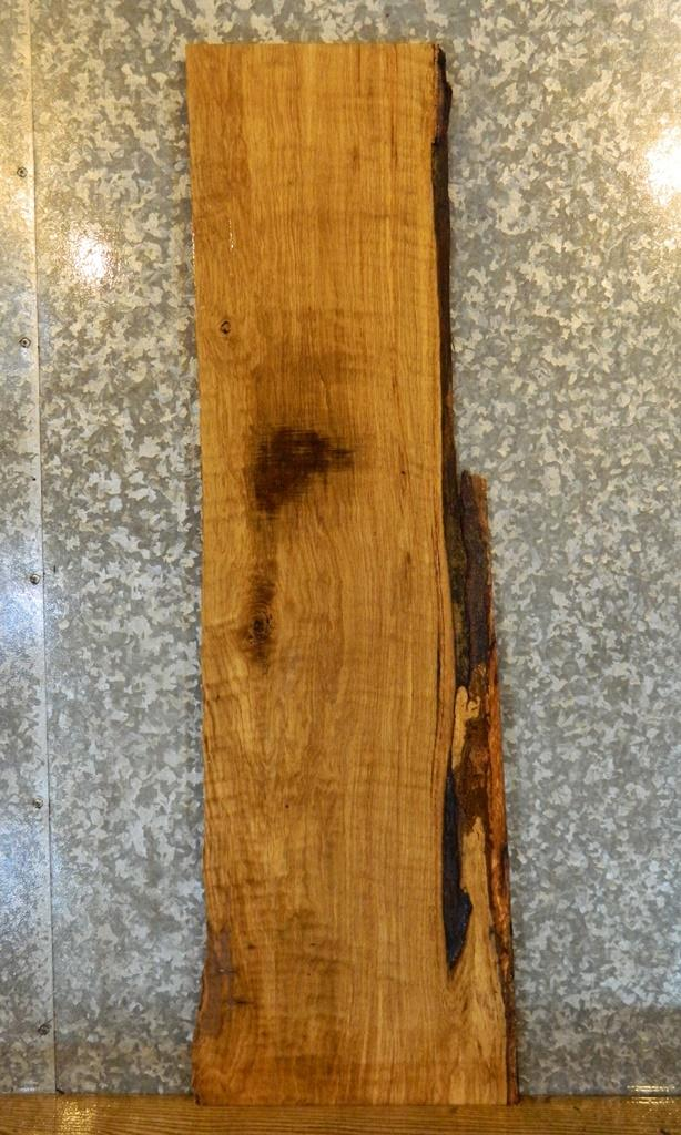 Salvaged Partial Live Edge White Oak Side/Sofa Table Top Wood Slab 502