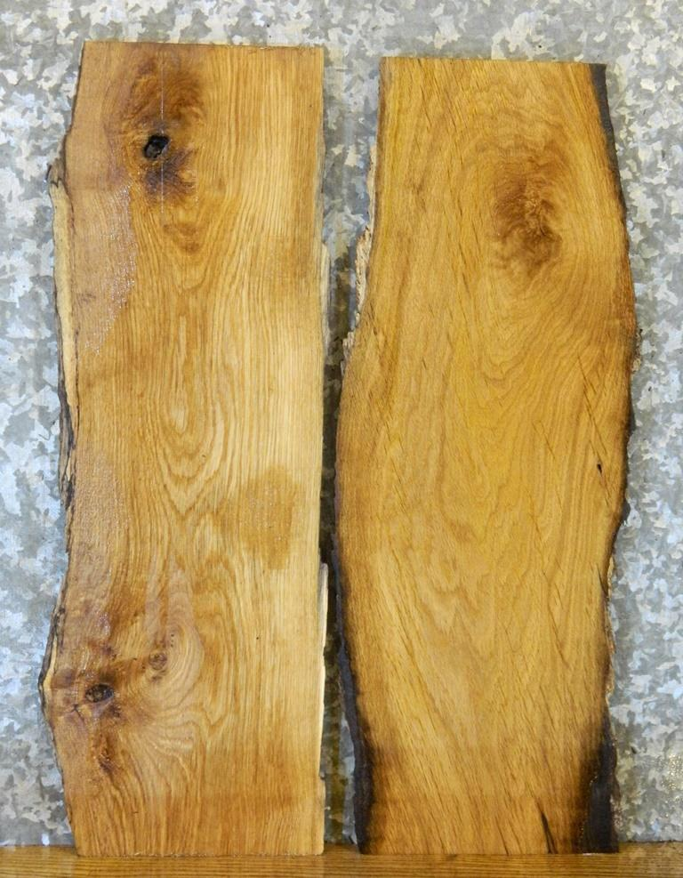 2- End/Entry/Side Table Top Natural Edge White Oak Wood Slabs 5160-5161