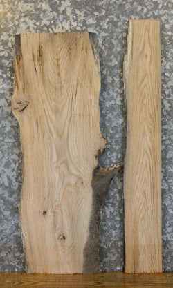 2- Partial Live Edge Oak Craft Pack/End Table Top Slabs 5392-5393