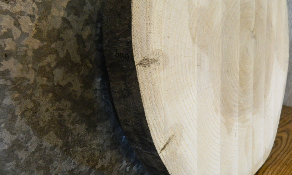 Live Edge Round Cut Ash End/Side/Accent Table Top Wood Slab 6414